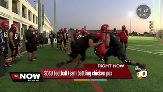 SDSU football team battling chicken pox - Video