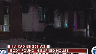 Body found inside burned out home on Detroit's west side