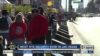 Unprecedented level of security for New Year's Eve in Las Vegas - Video