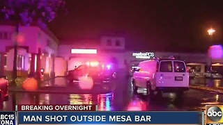 One person hospitalized after early morning shooting outside Mesa bar - Video