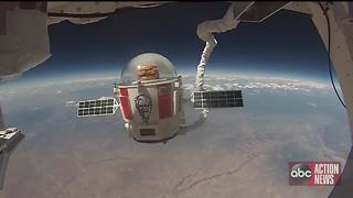 VIDEO: Kentucky Fried Chicken launches chicken sandwich into space - Video