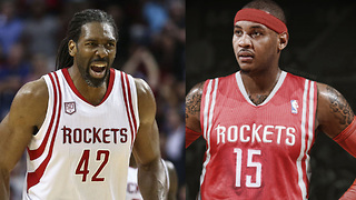 Carmelo Anthony Being RECRUITED to the Rockets by Former Teammate Nene - Video