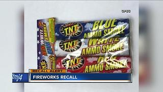 Fireworks sold in Wisconsin stores recalled due to burn hazard - Video