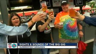 Diehards at Summerfest despite rain - Video
