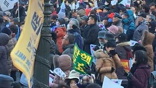 President's Supporters Rally in Seoul Against Impeachment - Video