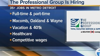 The Professional Group -a BELFOR Company- is looking to fill more than 35 openings in metro Detroit - Video