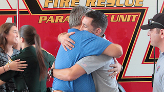 Man gets to meet the people who saved his life - Video