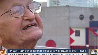 Pearl Harbor Day ceremony held aboard Coast Guard Cutter Taney - Video
