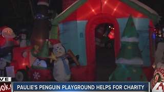 'Paulie's Penguin Playground' Christmas display shining bright for the holidays - Video