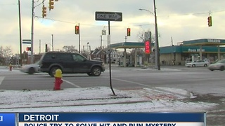 Detroit police trying to solve hit and run mystery - Video