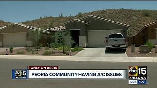 Peoria community outraged over A/C units breaking - Video
