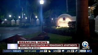 Homicide investigated at Renaissance Apartments in West Palm Beach - Video