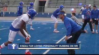 WR Coach Kiseau fun spirit rubbing off on his players - Video