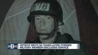 Detroit Riots 50 years later: Former military member discusses service - Video
