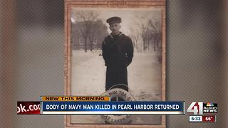 Body of Navy man killed in Pearl Harbor returns home - Video