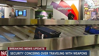 Raised Security Concerns Over Traveling With Weapons