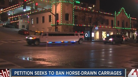 Petition seeks to ban horse-drawn carriages