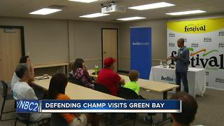 Defending Bellin Run Champ visits Green Bay - Video