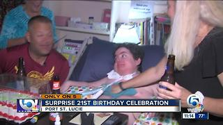 Surprise 21st birthday celebration - Video
