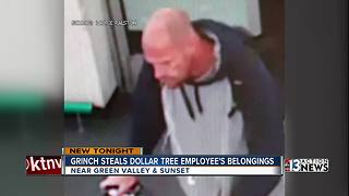 Thief steals cash, cellphone from Dollar Tree employee - Video