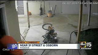 Surveillance video captures Phoenix burglary