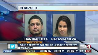 Couple arrested for selling heroin to detective again - Video