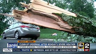 Cleanup underway after Monday's severe weather - Video