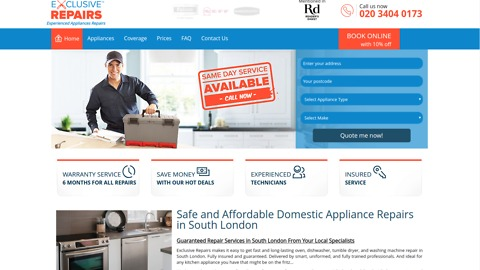 How to Book Appliance Repairs in South London | Exclusive Repairs