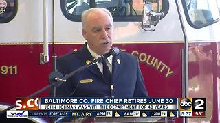 Baltimore County Fire chief to retire June 30 - Video