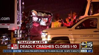 Truck driver killed in crash on I-10 in Phoenix - Video