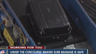 Under the concourse: Making sure your baggage is safe - Video