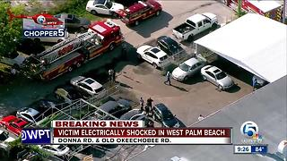 Person injured after being shocked in suburban West Palm Beach - Video