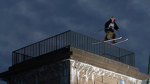 Urban Skiers Take Their Tricks To The Streets