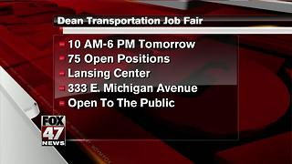 Dean Transportation holding job fair in Lansing - Video