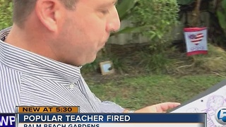 Popular teacher fired - Video