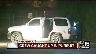 Man seen running away from police vehicles in Phoenix
