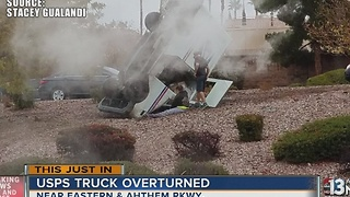 USPS truck overturns near Eastern, Anthem - Video
