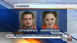 Couple Smokes Heroin in Front of Child - Video