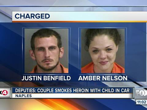 Couple Smokes Heroin in Front of Child