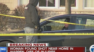 Woman killed near home in Warren - Video