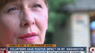 Neighborhood dreams drive Mount Washington woman's tireless volunteer work - Video