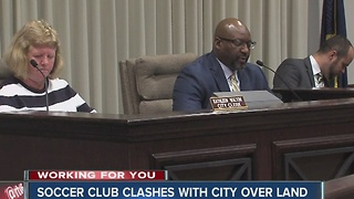 Soccer club clashes with city over land - Video