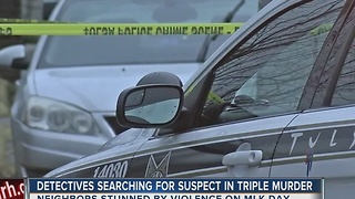 Detectives Searching For Murder Suspect In Triple Homicide - Video