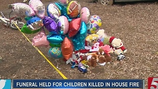 Funeral Held For Children Killed In House Fire - Video