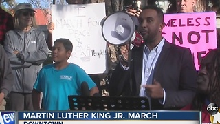 Martin Luther King Jr. March in downtown San Diego - Video