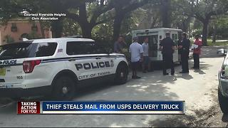 U.S. Postal Service mail truck burglarized in Riverside Heights - Video