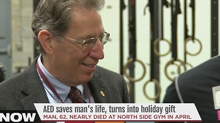 AED saves man's life, turns into holiday gift