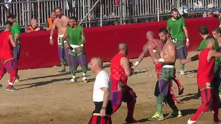 This sport basically merges football, rugby and kickboxing - Video