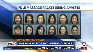 14 arrested in massage parlor crackdown - Video