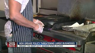 Grease trap ordinance leaves business owners with messy situation - Video